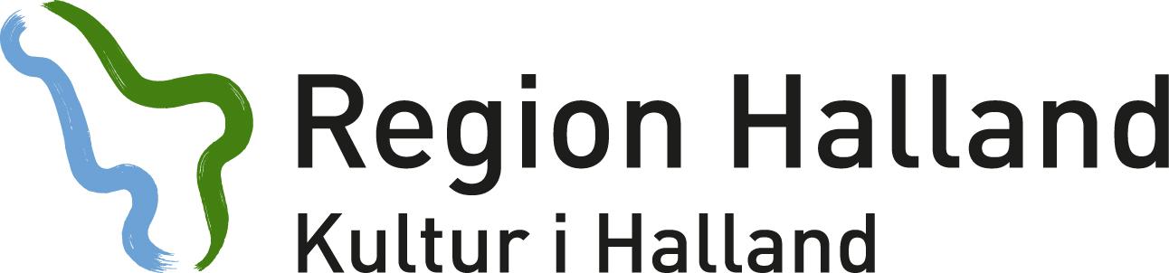 Kultur i Halland verksamhetslogotyp i färg.