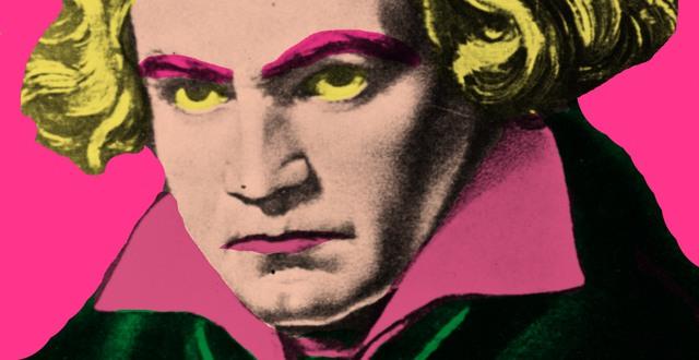 Popkonstversion av porträtt av Ludwig van Beethoven.