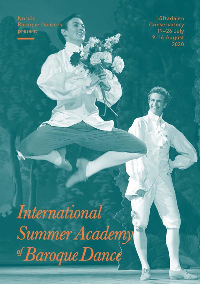 Baroque dancers Andrew Erickson and Adrian Navarro on stage