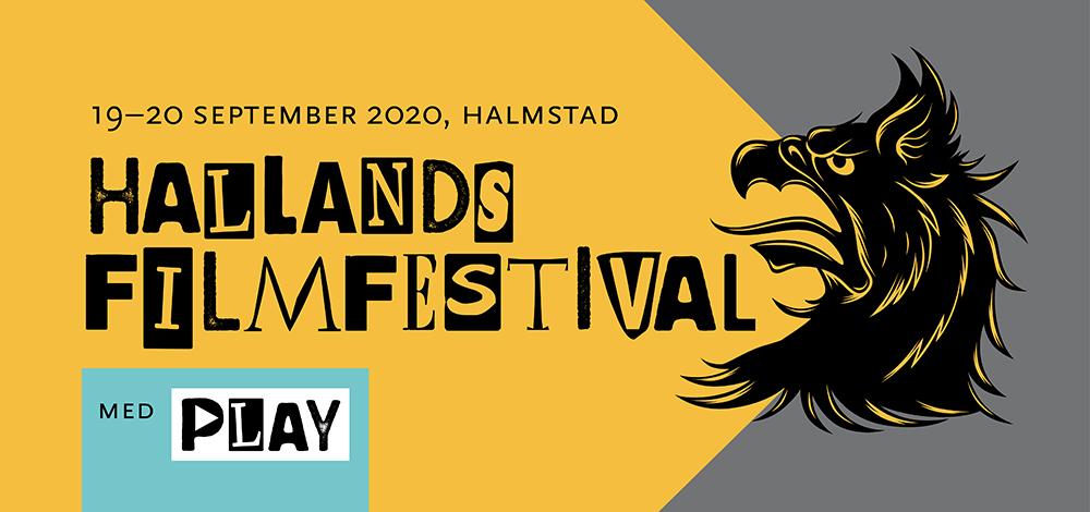 Logotyp med text: Hallands filmfestival med PLAY, 19-20 september 2020, Halmstad.