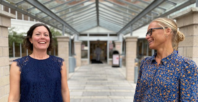 Smittskyddsläkarna Maria Löfgren (till höger) och Maria Ryberg-Mo (till vänster)