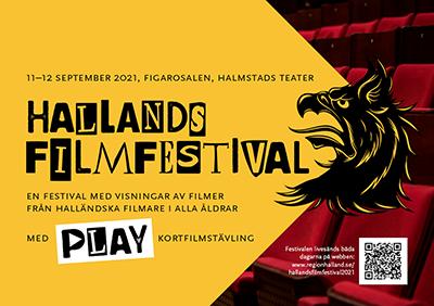 Faksimil av framsidan på programmet för Hallands filmfestival.