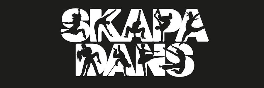 """Logotyp med texten """"skapa dans""""."""