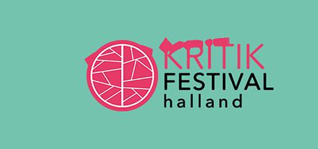 Logotyp för Kritikfestival Halland.